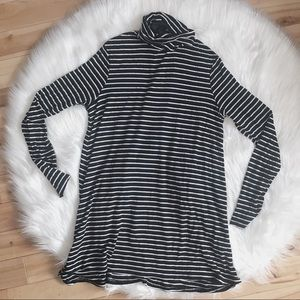 Mossimo Striped Turtleneck Dress